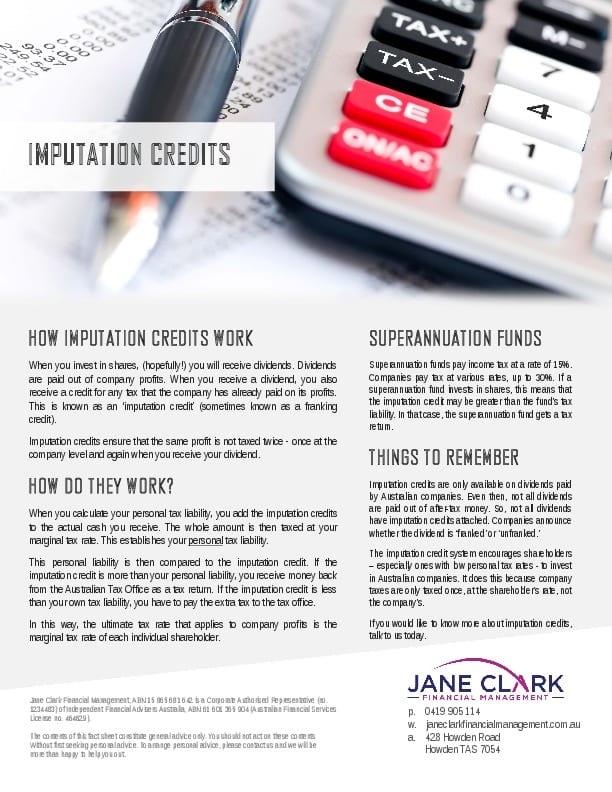Imputation Credit